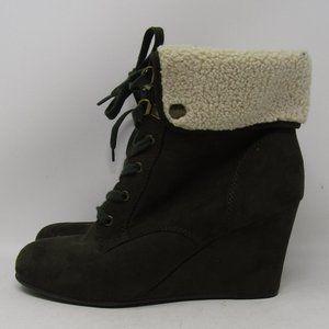 Indigo Rd Heels Boots Brown 8M Faux Suede Women